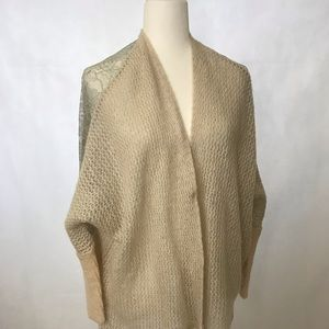 Free People Peekaboo Lace Wool Alpaca Cardigan